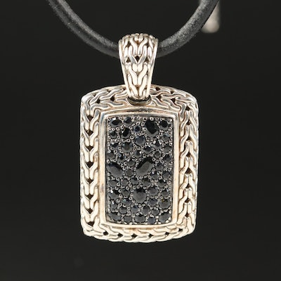 """John Hardy """"Classic Chain"""" Sterling Silver Sapphire Pendant Necklace"""