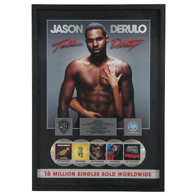 Commemorative Offset Lithograph Poster for Jason Derulo Record Sales