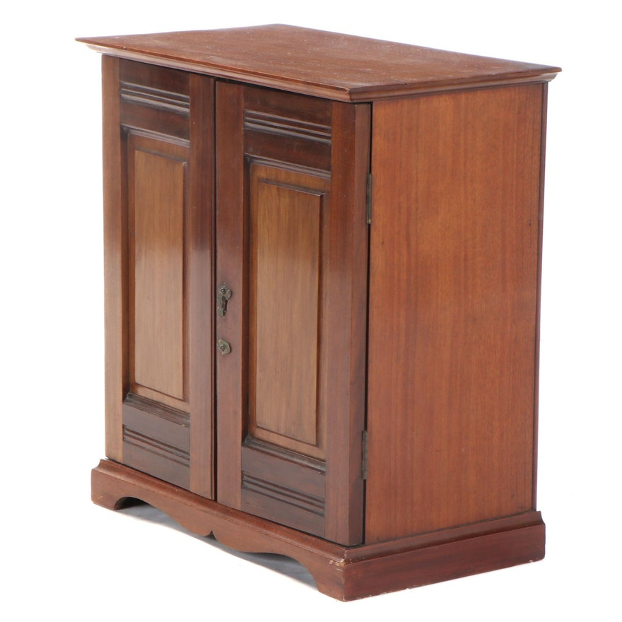 English Mahogany Tabletop Cabinet with Drawers, Late 19th/Early 20th Century