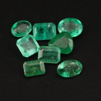 Loose 3.44 CTW Mixed Cut Emerald