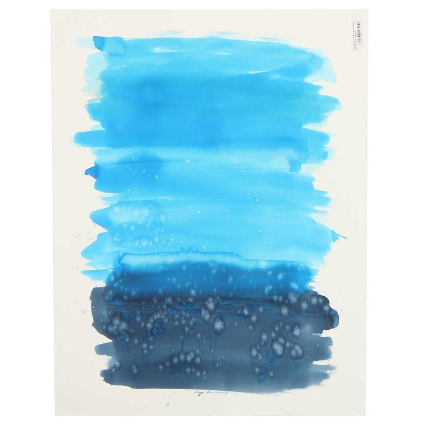 Inga Kovalenko Abstract Landscape Watercolor Painting, 2021