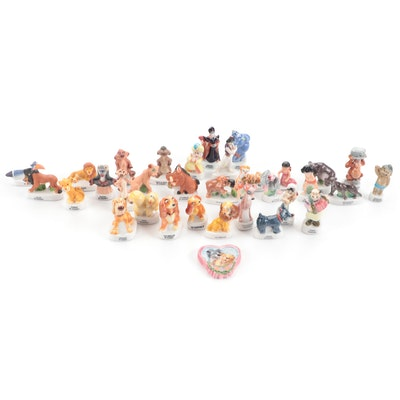 """Walt Disney Hand-Painted """"The Lion King"""" and Other Miniature Ceramic Figurines"""