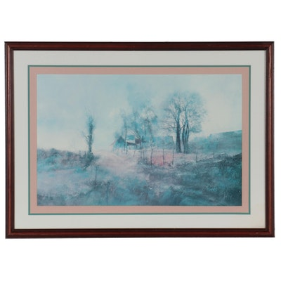 Offset Lithograph After Henry Francois Farny, Late 20th Century