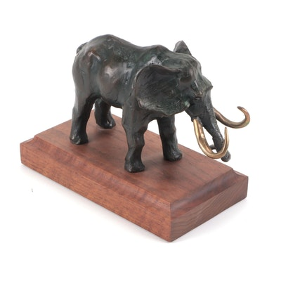 Alonzo Clemons Bronze Scuplture of African Elephant