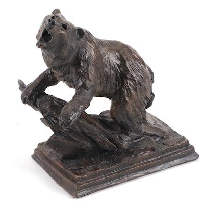 Ed Natiya Bronze Sculpture of Bear, Circa 2000
