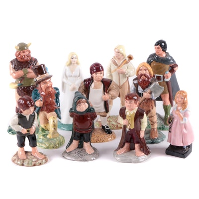 """Royal Doulton """"Frodo"""", """"Bilbo"""" and Other J. R. R. Tolkien Character Figurines"""