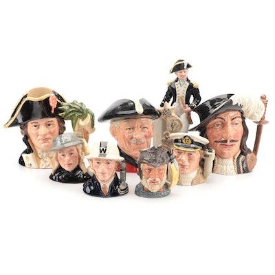 """Royal Doulton """"Athos"""" and Other Porcelain Character Mugs and Figurines"""