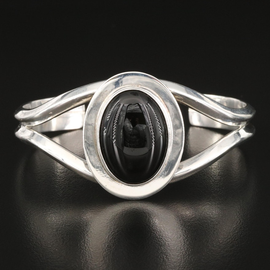 Somerset Sterling Black Onyx Lone Tissot Cuff