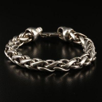 Sterling Silver Espiga Chain Bracelet