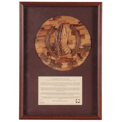 Holy Land Christians Carved Wooden Plaque