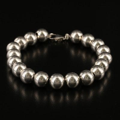Italian Sterling Silver Bead Bracelet