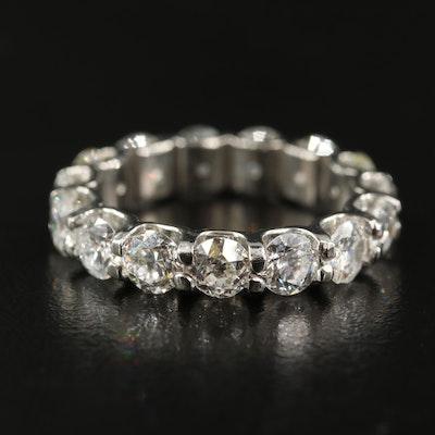 Platinum 3.57 CTW Diamond Eternity Band