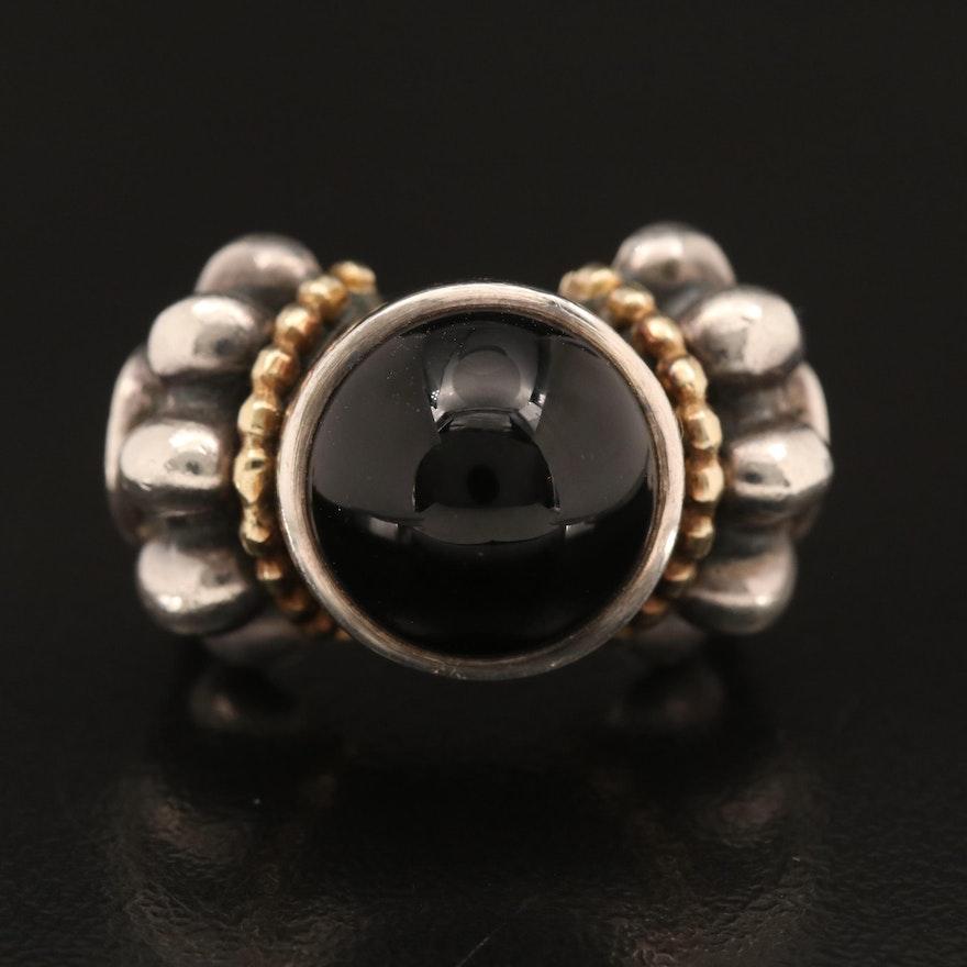 """Lagos """"Caviar"""" Sterling Black Onyx Ring"""