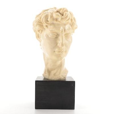 "A. Santini Cast Resin Sculpture after Michelangelo's ""David"""