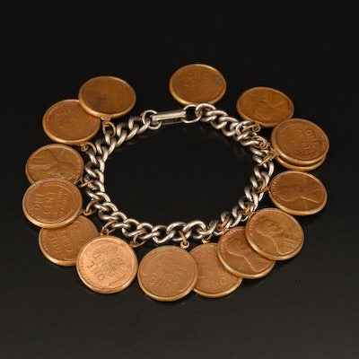 Bracelet with Lincoln Wheat Cent Coins