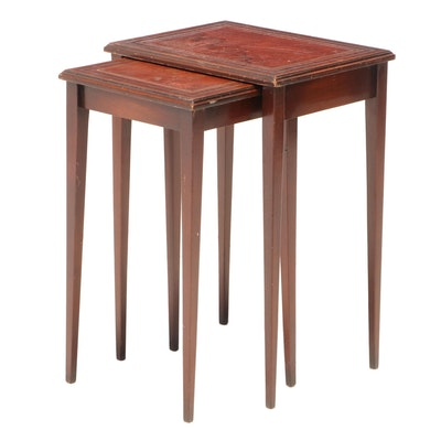 Two Federal Style Mahogany Graduated Side Tables, 20th Century