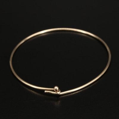 14K Wire Hook Bangle