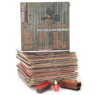 Janis Joplin, Little Feat, Jefferson Airplane, Other Vinyl Rock LP Records