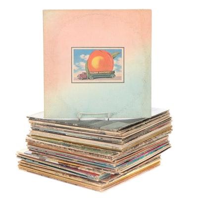 The Allman Brothers, Johnny Winter, Marshall Tucker, Other Vinyl Rock LP Records