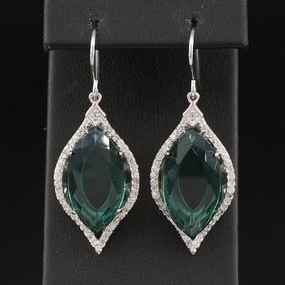 Eva LaRue Sterling Silver Fluorite and Topaz Earrings