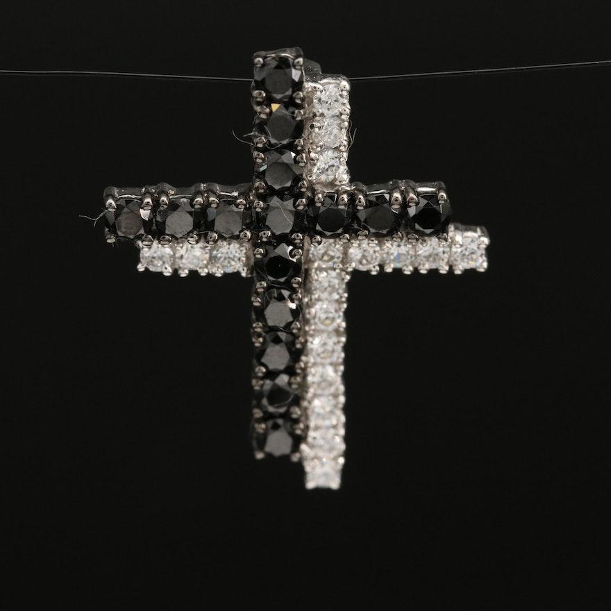 Sterling Cubic Zirconia Cross Pendant