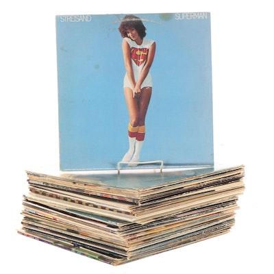 Barbra Streisand, Steve Winwood, Santana, Other Vinyl Pop and Rock LP Records