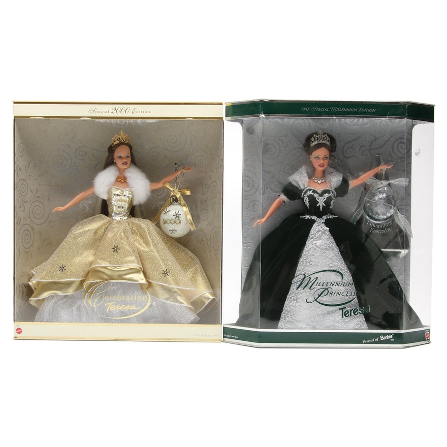 "Mattel Teresa ""Millennium Princess"" and ""2000 Celebration"" Dolls"