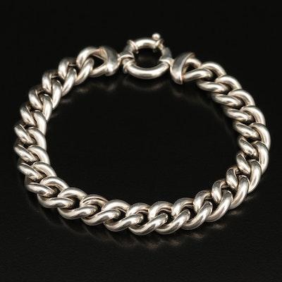 Italian Sterling Silver Curb Chain Bracelet