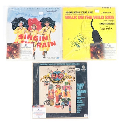 Debbie Reynolds, Warren Beatty, Other Signed Record and Laserdisc Covers, COAs
