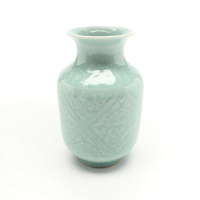 Chinese Celadon Style Ceramic Vase
