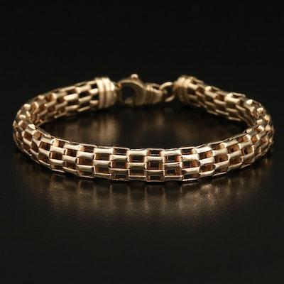 14K Italian Panther Chain Bracelet