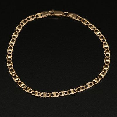 14K Italian Mariner Chain Bracelet