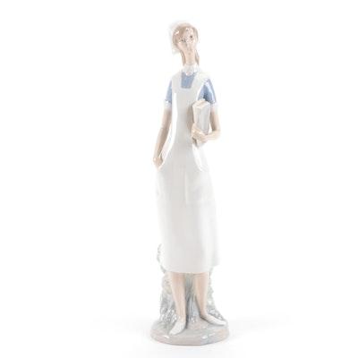 """Lladró """"Nurse"""" Porcelain Figurine Designed by Salvador Furió"""