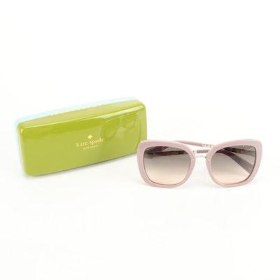 Kate Spade Kimora/G/S Hello Sunshine Mauve Square Sunglasses with Case