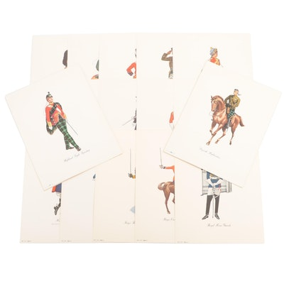 Dewar's White Label British Army Regimental Prints, Editions 1 – 4