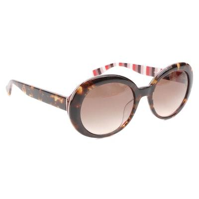 Kate Spade CINDRA/S Round Sunglasses in Dark Havana Acetate