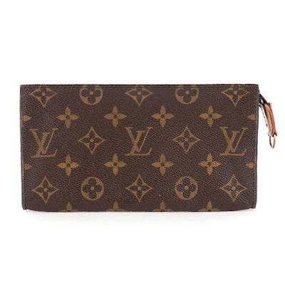 Louis Vuitton Toiletry Pouch 19 in Monogram Canvas with Leather Trim