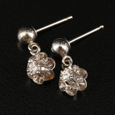 14K Buttercup Set Diamond Earrings