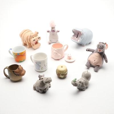 Assorted Hippo Mugs and Decór
