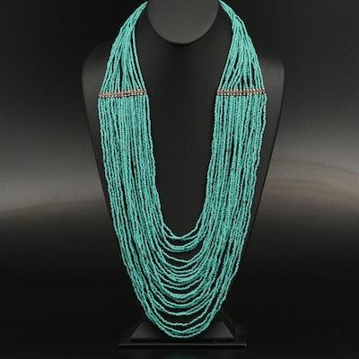 Multi-Strand Imitation Turquoise Necklace