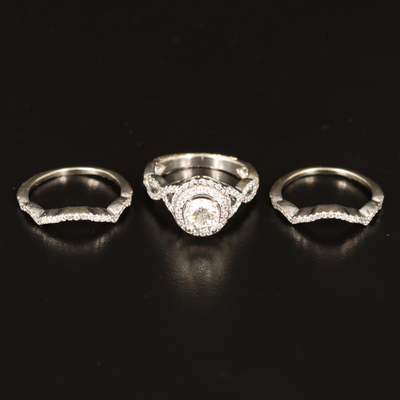 14K 1.87 CTW Ring with Enhancer Bands