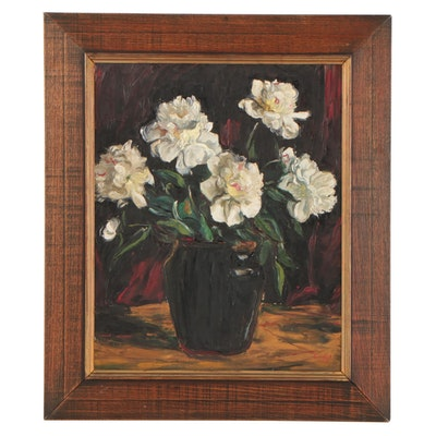 Floral Still Life Oil Painting, 1942