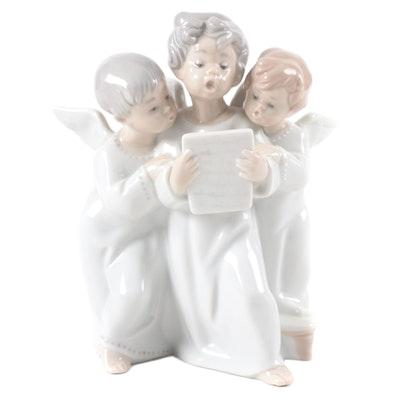 "Lladró ""Angels' Group"" Porcelain Figurine"