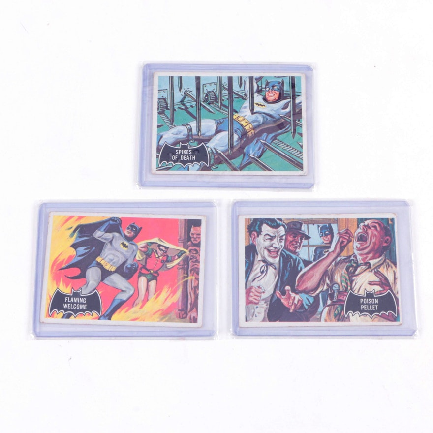1966 Batman Topps Black Logos Trading Cards