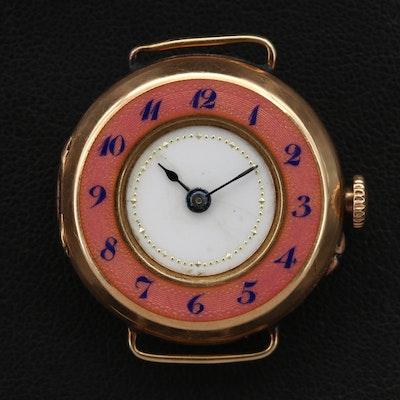9 Karat Swiss Convertible Wristwatch