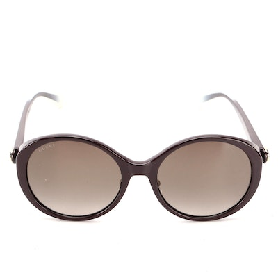 Gucci GG 0370SK Round Sunglasses in Brown Ombré with Purple Case