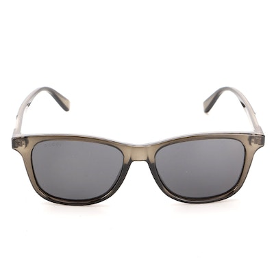 Gucci GG0936S Gray Translucent Square Sunglasses with Teal Case