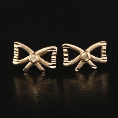 14K Bow Earrings