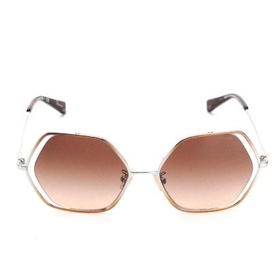 Coach HC 7109 Honeycomb Gradient Sunglasses with Case