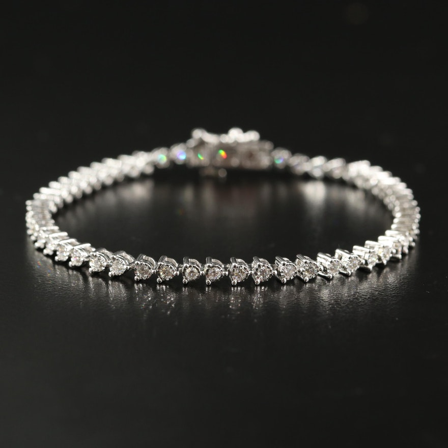 14K 1.12 CTW Diamond Tennis Bracelet